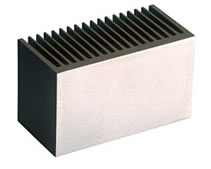 Heatsink showing linished surface